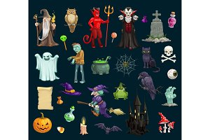 Halloween holiday evil characters