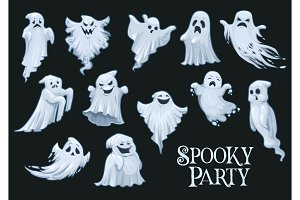 Halloween vector scary ghosts
