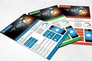 Mobile App Flyer - 3 color-V83