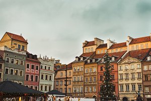 Christmas in Warsaw Old Town Market