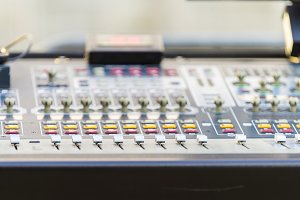 Real sound music mixer control panel