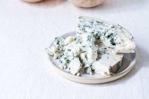 Sliced Butternut & Blue Cheese