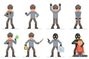 Greedily evil rogue characters set