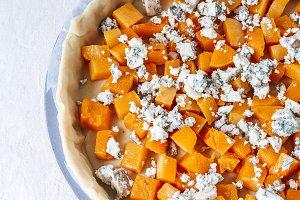 Butternut & Blue Cheese Quiche