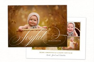 Christmas Card Template CC220