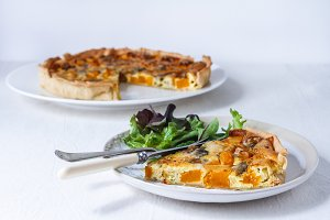Butternut & Blue Cheese Quiche