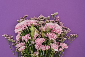 bouquet of beautiful pink chrysanthe