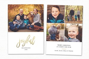 Christmas Card Template CC212