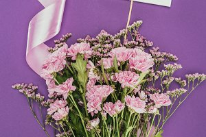 bouquet of beautiful pink flowers wi
