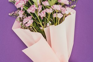 beautiful floral bouquet with pink r