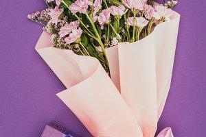 bouquet of beautiful pink flowers an