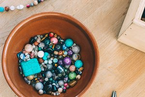 Colorful beads and trinkets for do-i