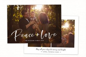 Christmas Card Template CC211