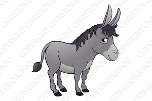 Donkey Animal Cartoon Character