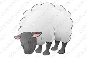 Sheep Animal Cartoon Character