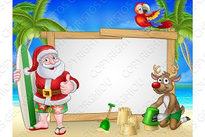 Santa Claus and Reindeer Christmas