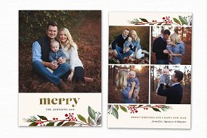Christmas Card Template CC195