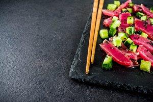 Tuna sashimi poke