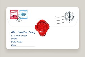 Wax seal mailing letter