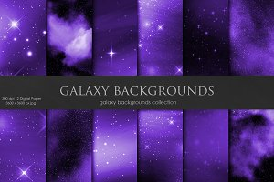 Galaxy, Space Purple Backgrounds