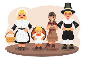 Thanksgiving children costumes
