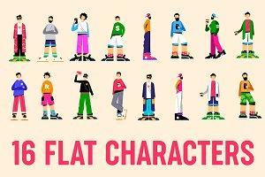 Flat characters set