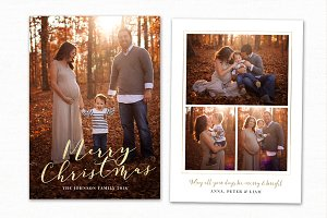 Christmas Card Template CC194