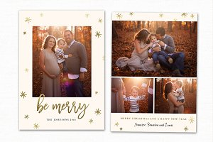 Christmas Card Template CC193