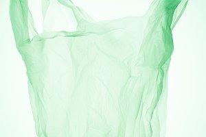 empty transparent plastic bag under