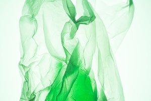 transparent plastic bag with silhoue