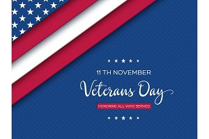 Veterans Day greeting card.