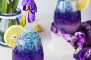 butterfly pea flower blue lemonade