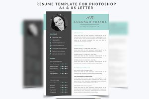 Resume Template 001 for Photoshop