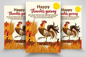 Thanksgiving Psd Flyer Templates