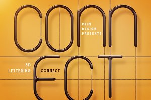 Connect – 3D Lettering