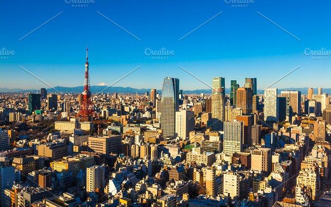 Tokyo Skyline and Mt. Fuji, Japan - Architecture