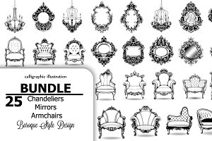 25 vector bundle mirrors chandeliers