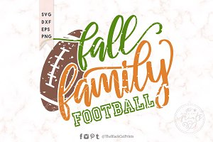 Fall Family Football Distressed SVG