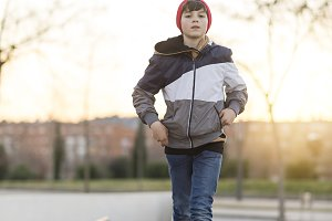 Young teenager portrait wearing a re