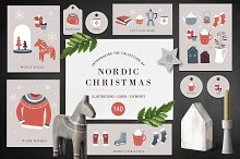 Nordic Christmas - winter collection by  in Illustrations