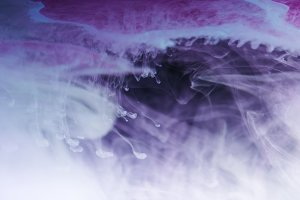 abstract blue, white and purple arti