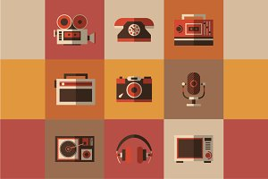 Retro icons