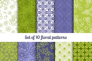 High-quality floral patterns