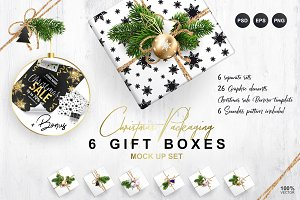 Christmas Packaging. MockUp Set.