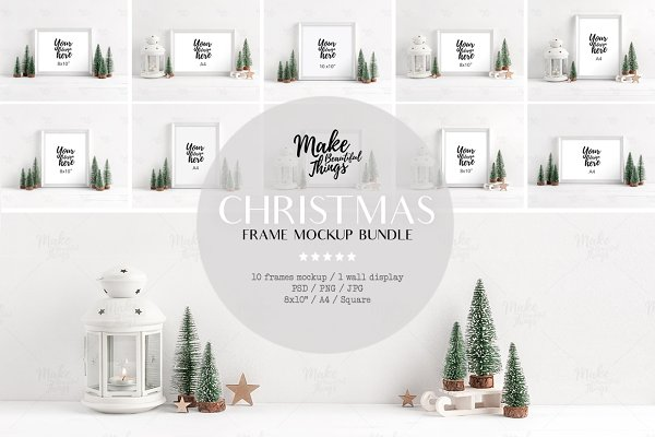 Bundle / Christmas frame mockups
