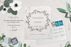 -25% OFF Elegant. Calligraphy ink