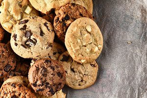 Assorted Cookies on Parchment Paper