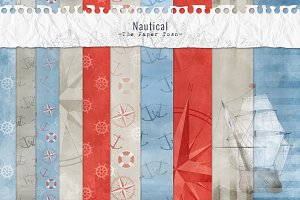 Textured Nautical Digital Papers