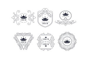 Monogram logo templates set