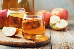 Organic Apple cider or juice on a